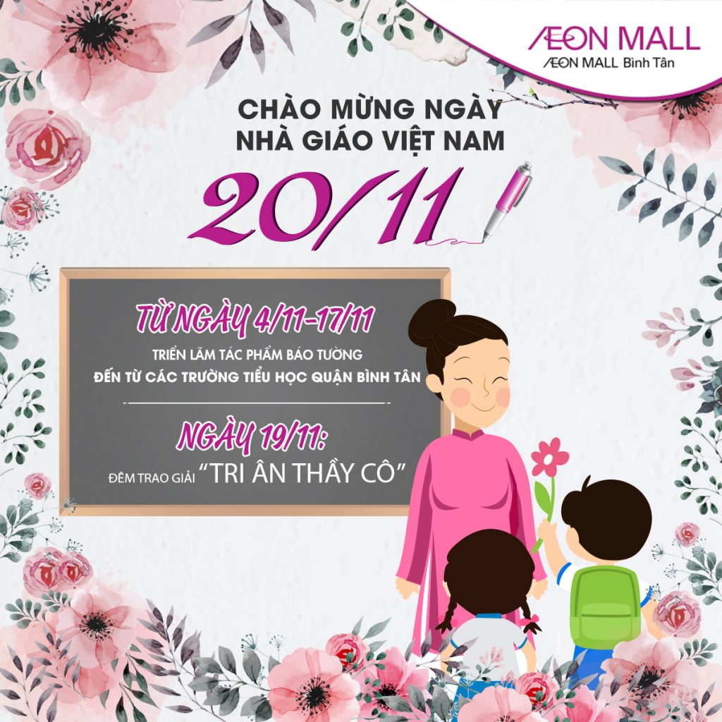 Vietnamese Teachers Day Celebration At Aeon Mall Binh Tan Aeon