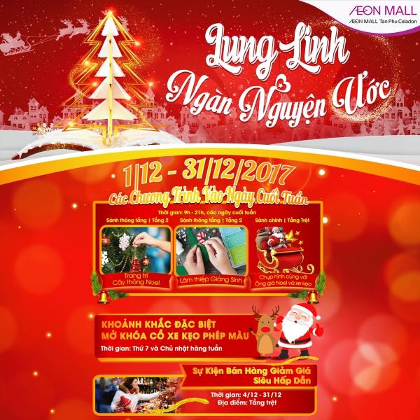 Fun shopping to get Christmas gift at AEON MALL Tan Phu Celadon ...