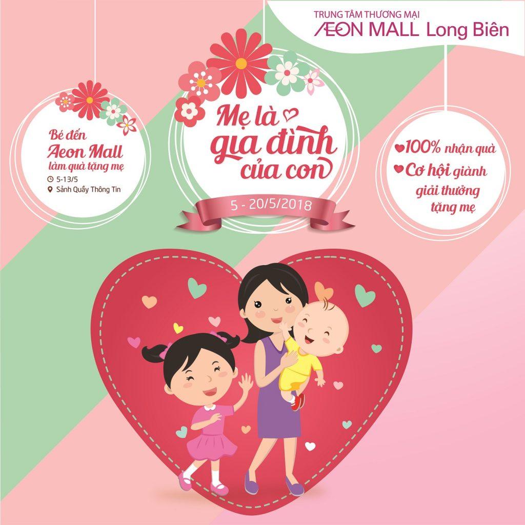 Tham gia lớp học làm thiệp handmade, dành tặng mẹ yêu (vào ngày 5-6/5 và 12- 13/5/2018). Khi tới tham quan mua sắm tại TTTM AEON MALL Long Biên, ...